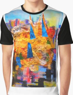The Spires of St Patrick's Cathedral Melbourne Graphic T-Shirt