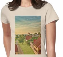 Visby in pastels Womens Fitted T-Shirt