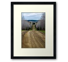 Let the Gravel Unravel Framed Print
