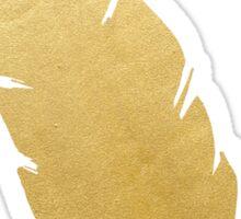 Gold Feather Sticker
