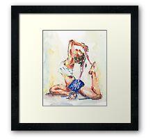 Yoga Watercolor  Framed Print