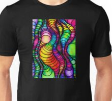Colorful Tube Worms - Op Art Unisex T-Shirt