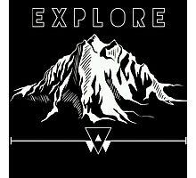 Explore Mountains Photographic Print