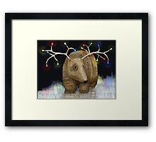 Glow me the Way : Christmas Lights Framed Print