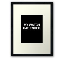 Ended. Framed Print
