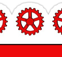 Bike DC Gear Flag Sticker