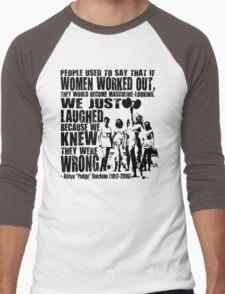 Abbye Pudgy Stockton Lifting Motivation For Women Men's Baseball ¾ T-Shirt