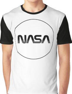 Modernized Nasa Log Graphic T-Shirt