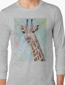 African Giraffe Long Sleeve T-Shirt