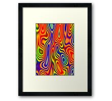 Color Cell Tie Dye Psychedelic Framed Print