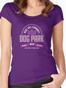 Night Vale Community Dog Park Women's Fitted Scoop T-Shirt