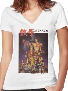 Tekken 1 King of Iron Fist Women's Fitted V-Neck T-Shirt