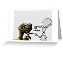 ET AND ROGER ALIEN LOVE Greeting Card