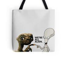 ET AND ROGER ALIEN LOVE Tote Bag