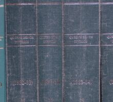 Antique Law Books Row Pattern Sticker
