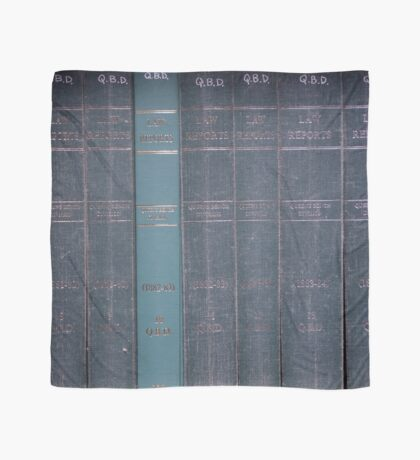 Antique Law Books Row Pattern Scarf