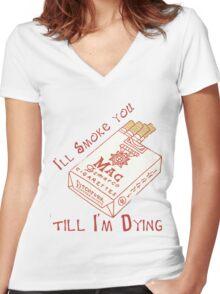 mac demarco 03 Women's Fitted V-Neck T-Shirt