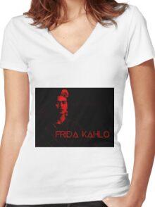 Frida Kahlo (Ver 6) Women's Fitted V-Neck T-Shirt