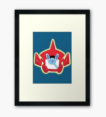 Kawaii RotomDex Framed Print