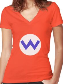 Wario Symbol Women's Fitted V-Neck T-Shirt