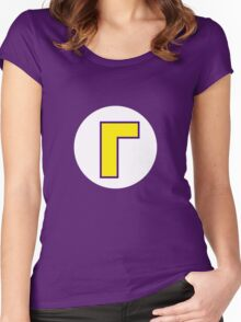 Waluigi Symbol Women's Fitted Scoop T-Shirt