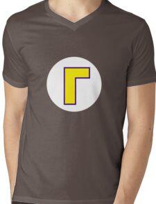Waluigi Symbol Mens V-Neck T-Shirt