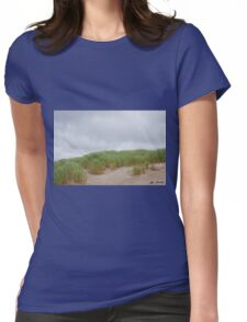 Sand Dunes and Grass Womens Fitted T-Shirt