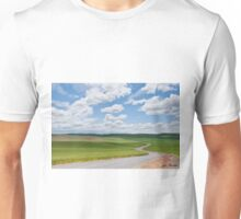 Road Winding Through the Palouse Wheatfields Unisex T-Shirt