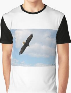 Bald Eagle Flying in the Clouds Graphic T-Shirt