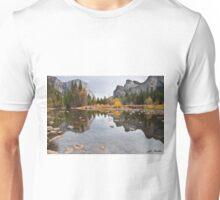 El Capitan Reflected in the Merced River Unisex T-Shirt