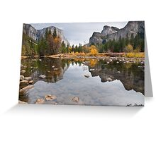 El Capitan Reflected in the Merced River Greeting Card