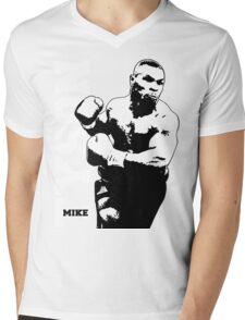 MIKE TYSON Prepare for Hit Mens V-Neck T-Shirt