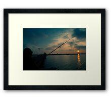 Fishing For Light Framed Print