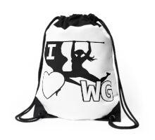 I Love Winter Guard Drawstring Bag