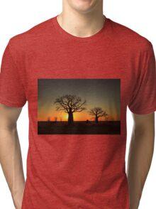 Sunset on the flats Tri-blend T-Shirt