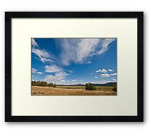 Clouds Over a Wildlife Refuge Framed Print