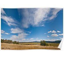 Clouds Over a Wildlife Refuge Poster