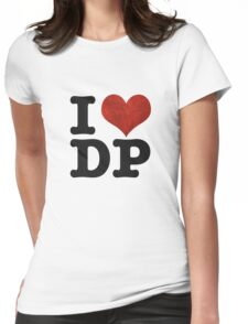 I heart DP on white Womens Fitted T-Shirt