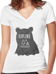 Explore More Women's Fitted V-Neck T-Shirt