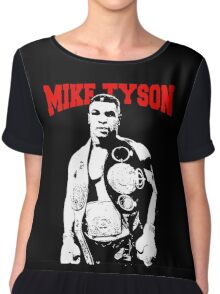 Mike Tyson With Trophy Chiffon Top