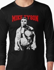 Mike Tyson With Trophy Long Sleeve T-Shirt