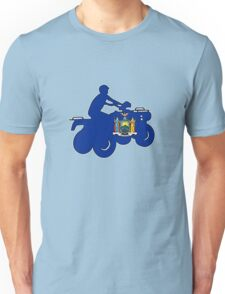New York flag ATV rider Unisex T-Shirt