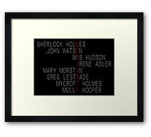 MORIARTY (Sherlock Characters) Framed Print