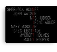 MORIARTY (Sherlock Characters) Canvas Print