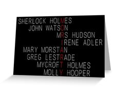 MORIARTY (Sherlock Characters) Greeting Card