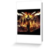 Apocalypse and the four horseman Greeting Card