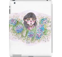 Little Lily Among Hydrangeas iPad Case/Skin