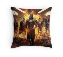 Apocalypse and the four horseman Throw Pillow