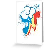 Rainbow Dash Cutie Mark Greeting Card
