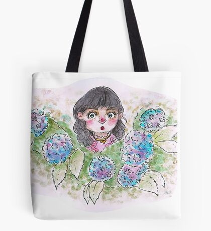 Little Lily Among Hydrangeas Tote Bag